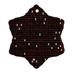 Cubes Small Background Snowflake Ornament (Two Sides)