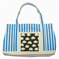 Cloud White Gray Sky Striped Blue Tote Bag
