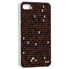 Cubes Small Background Apple iPhone 4/4s Seamless Case (White)