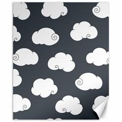 Cloud White Gray Sky Canvas 16  x 20