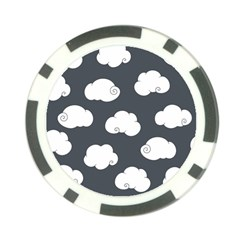 Cloud White Gray Sky Poker Chip Card Guard (10 pack)