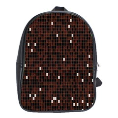 Cubes Small Background School Bags (XL)