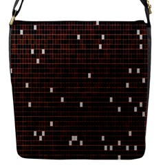 Cubes Small Background Flap Messenger Bag (S)
