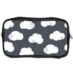 Cloud White Gray Sky Toiletries Bags