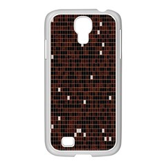 Cubes Small Background Samsung Galaxy S4 I9500/ I9505 Case (white)