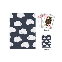 Cloud White Gray Sky Playing Cards (Mini)