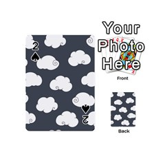 Cloud White Gray Sky Playing Cards 54 (Mini)