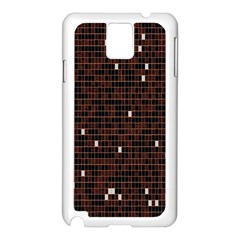 Cubes Small Background Samsung Galaxy Note 3 N9005 Case (White)