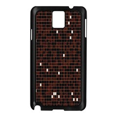Cubes Small Background Samsung Galaxy Note 3 N9005 Case (black)