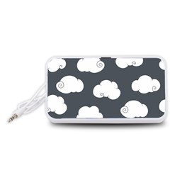 Cloud White Gray Sky Portable Speaker (White)