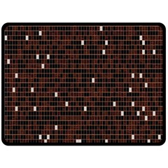 Cubes Small Background Double Sided Fleece Blanket (large)