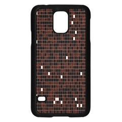 Cubes Small Background Samsung Galaxy S5 Case (Black)