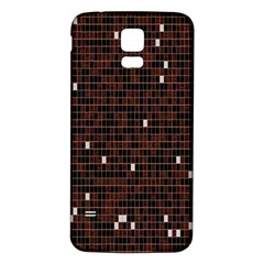 Cubes Small Background Samsung Galaxy S5 Back Case (White)