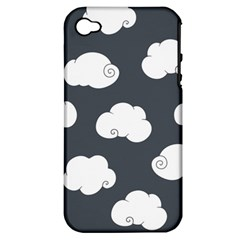 Cloud White Gray Sky Apple iPhone 4/4S Hardshell Case (PC+Silicone)