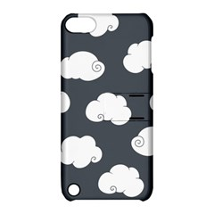 Cloud White Gray Sky Apple iPod Touch 5 Hardshell Case with Stand