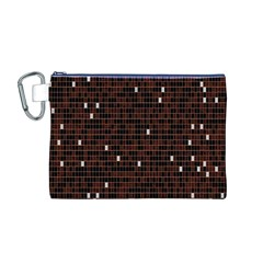 Cubes Small Background Canvas Cosmetic Bag (M)