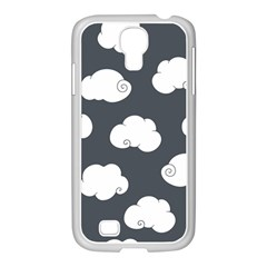 Cloud White Gray Sky Samsung GALAXY S4 I9500/ I9505 Case (White)