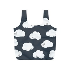 Cloud White Gray Sky Full Print Recycle Bags (S)