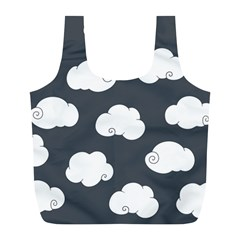 Cloud White Gray Sky Full Print Recycle Bags (L)