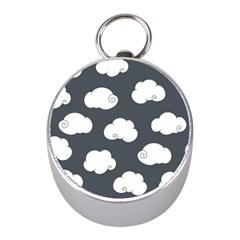 Cloud White Gray Sky Mini Silver Compasses