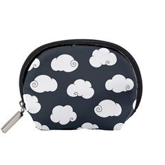 Cloud White Gray Sky Accessory Pouches (Small)