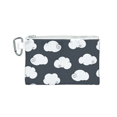 Cloud White Gray Sky Canvas Cosmetic Bag (S)