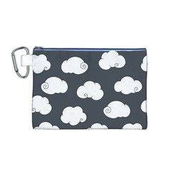 Cloud White Gray Sky Canvas Cosmetic Bag (M)