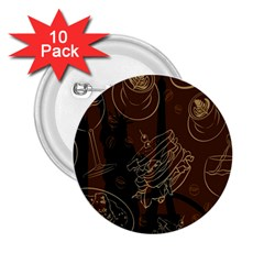 Coffe Break Cake Brown Sweet Original 2.25  Buttons (10 pack)