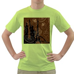 Coffe Break Cake Brown Sweet Original Green T-Shirt