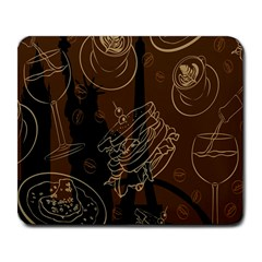 Coffe Break Cake Brown Sweet Original Large Mousepads