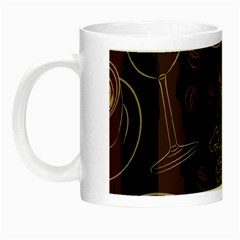 Coffe Break Cake Brown Sweet Original Night Luminous Mugs