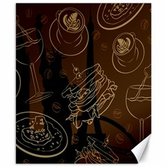 Coffe Break Cake Brown Sweet Original Canvas 8  x 10