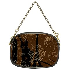 Coffe Break Cake Brown Sweet Original Chain Purses (two Sides)