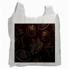 Coffe Break Cake Brown Sweet Original Recycle Bag (Two Side)