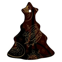 Coffe Break Cake Brown Sweet Original Christmas Tree Ornament (Two Sides)