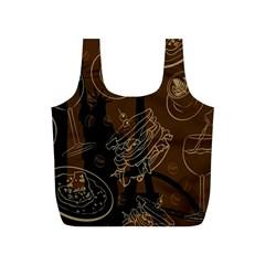 Coffe Break Cake Brown Sweet Original Full Print Recycle Bags (S)