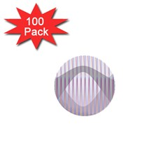 Crease Patterns Large Vases Blue Red Orange White 1  Mini Buttons (100 pack)