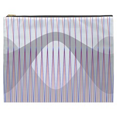 Crease Patterns Large Vases Blue Red Orange White Cosmetic Bag (XXXL)