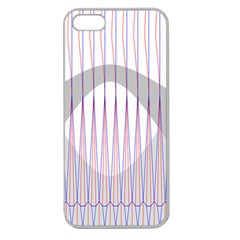 Crease Patterns Large Vases Blue Red Orange White Apple Seamless iPhone 5 Case (Clear)