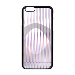 Crease Patterns Large Vases Blue Red Orange White Apple iPhone 6/6S Black Enamel Case