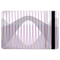 Crease Patterns Large Vases Blue Red Orange White iPad Air 2 Flip
