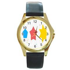 Evolution Jumsoft Star Round Gold Metal Watch