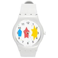 Evolution Jumsoft Star Round Plastic Sport Watch (m)