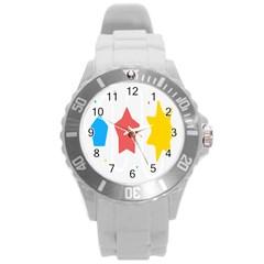 Evolution Jumsoft Star Round Plastic Sport Watch (L)