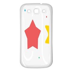 Evolution Jumsoft Star Samsung Galaxy S3 Back Case (White)