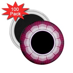 Circle Border Hole Black Red White Space 2 25  Magnets (100 Pack)