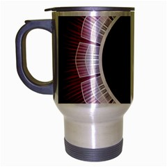 Circle Border Hole Black Red White Space Travel Mug (silver Gray)