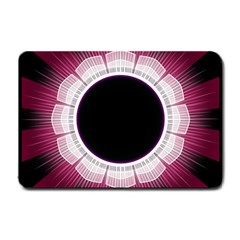 Circle Border Hole Black Red White Space Small Doormat