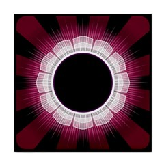 Circle Border Hole Black Red White Space Face Towel