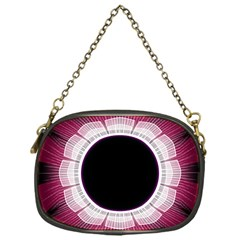 Circle Border Hole Black Red White Space Chain Purses (One Side)